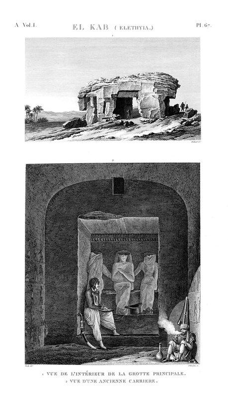 Крепость Нехеб, расположенная на правом берегу Нила, общий вид и интерьер гробницы
