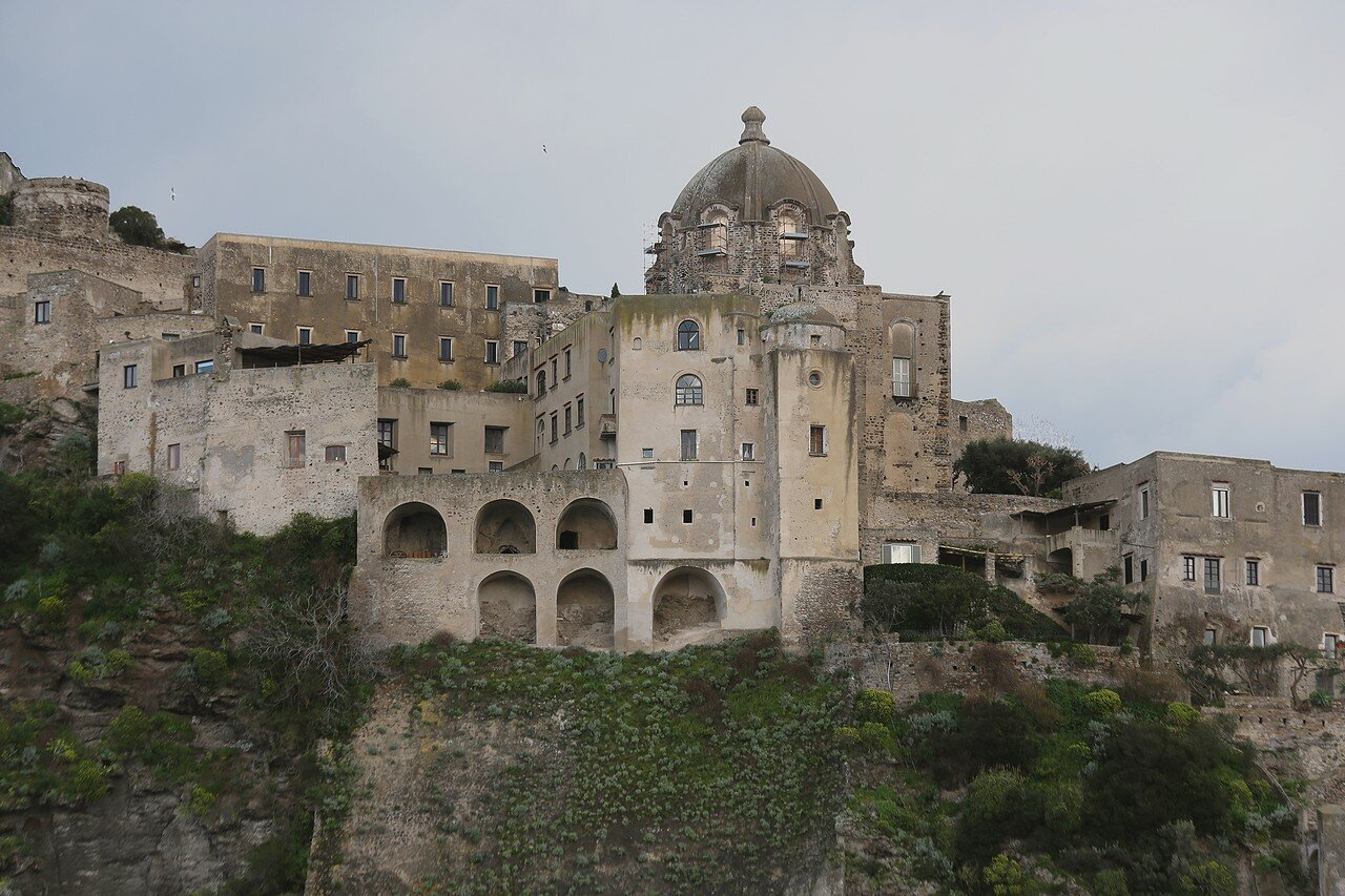 Ischia. Aragonese castle. Church of the Immaculate conception (Chiesa Dell'immacolata)