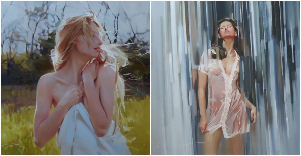 Набольшинстве картин Алексея Чернигина маслом нахолсте запечатлены красота, романтика имгновения