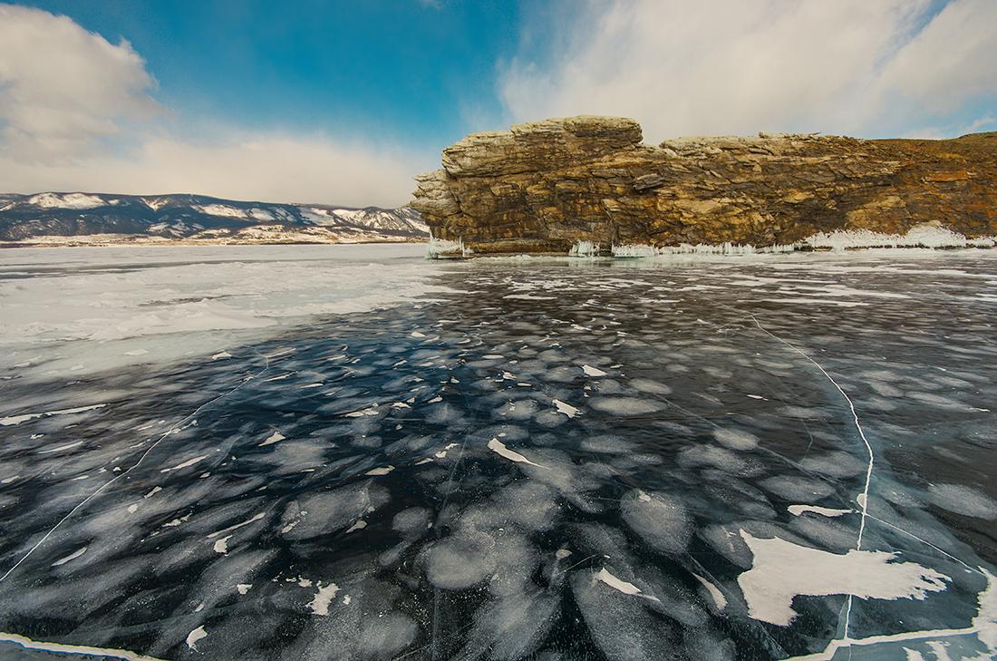 Лёд возле Огоя