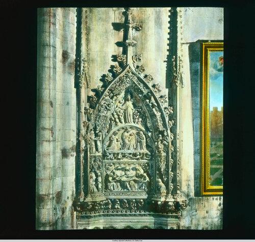 Milan. Cathedral (Duomo): interior, detail of sculpture