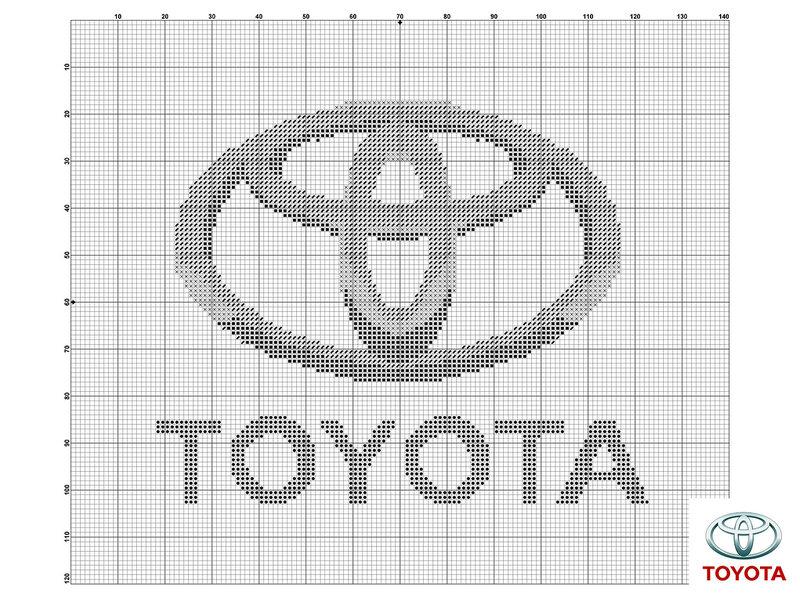 Схема логотипа тойота