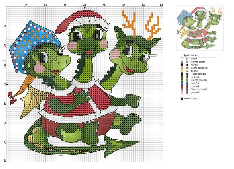 nickolaenckova символ года дракон вышивка вышивка крестом дракон новый год схема схема для вышивки.