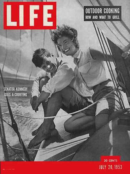 Senator John F. Jacqueline Bouvier Kennedy with his girlfriend July 20, 1953