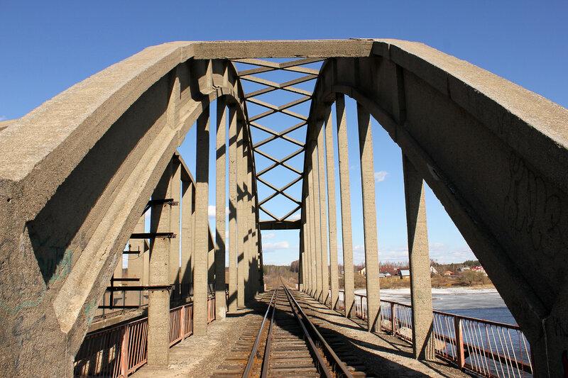 Мост через реку Жабня, перегон Калязин - Углич