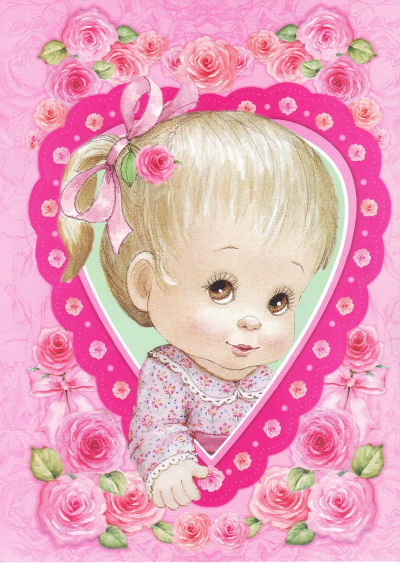 открытки малышки торце
