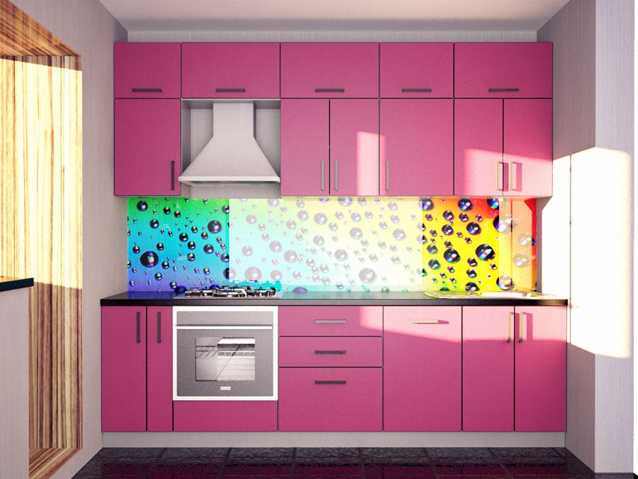 Розовая кухня, постформинг