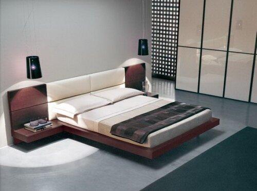 Оформление спальни в японском стиле.
