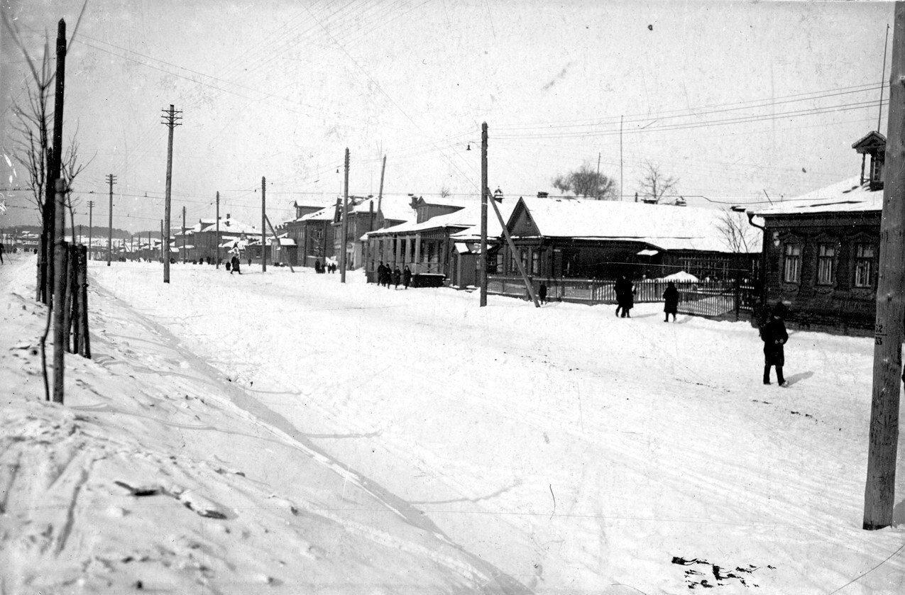 1933. Старая застройка Ленинградского шоссе. Район ст.м.Сокол