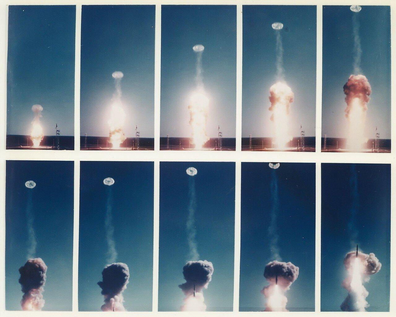 13. 1959, март.  Снимки запуска ракет «Минитмен-миссайл» на мысе Канаверал