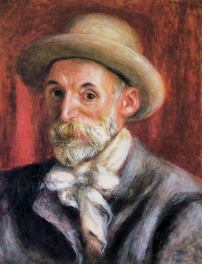 Автопортрет 1910, Ренуар.  Self Portrait, 1910. Renoir