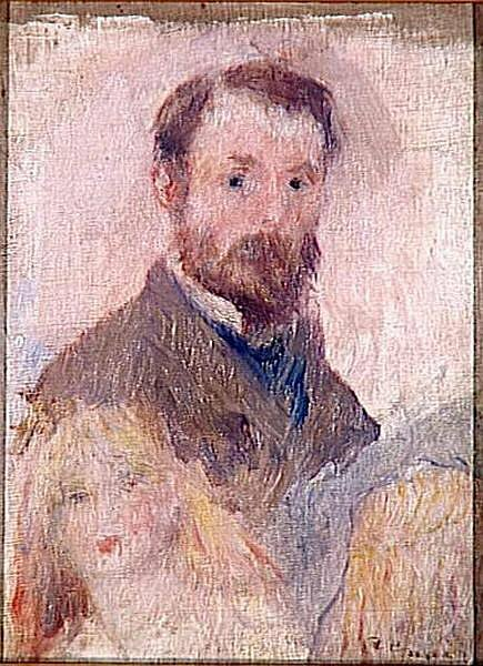 Автопортрет 1879г. Self-portrait 1879, Renoir, Pierre-Auguste