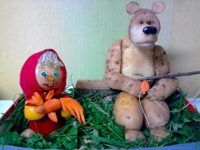 Поделки из овощей и фруктов для школы детского сада своими