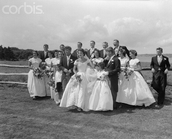 John and Jacqueline Kennedy's Wedding Party