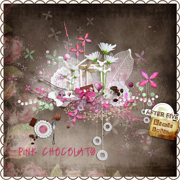 Скрап-набор Pink Chocolate