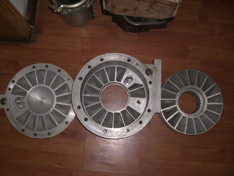 Корпус тормоза замедлителя с ротором и крышкой 7555-3572012