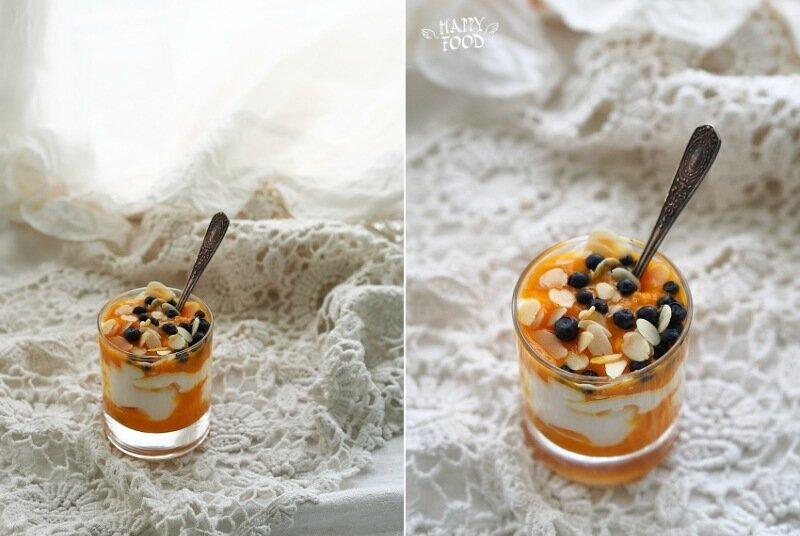Десерт манго-меренга