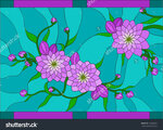 stock-vector-decorative-dahlia-flowers-on-spotted-blue-background-stained-glass-window-163828601.jpg