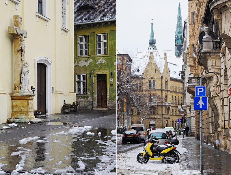 Буда и Пешт. Зимние улицы.