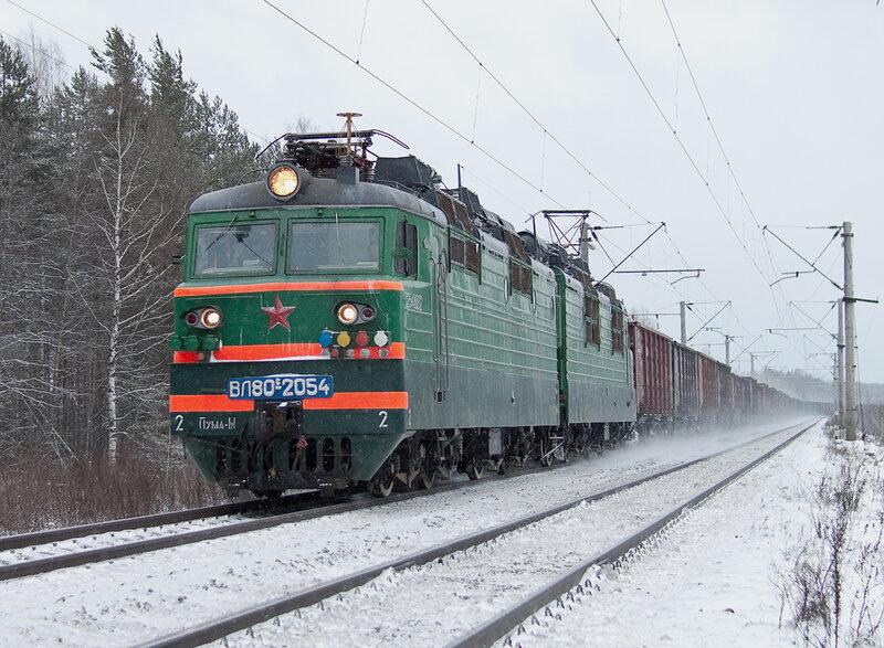 ВЛ80С. зима. железная дорога. вывесил фотку.
