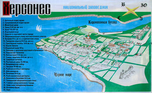 Карта национального заповедника Херсонес. Автор: Сергей Ваткин