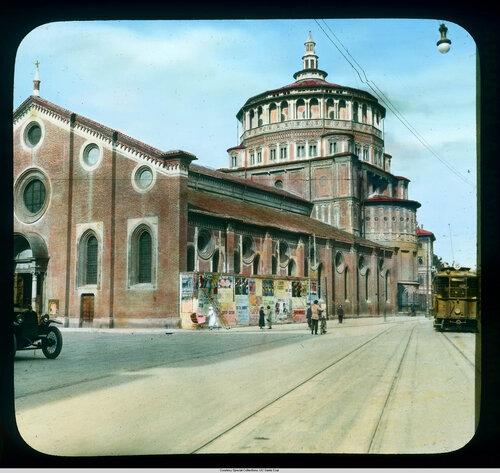 Milan. Santa Maria delle Grazie: exterior view of church