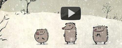 Singing Christmas Hedgehogs