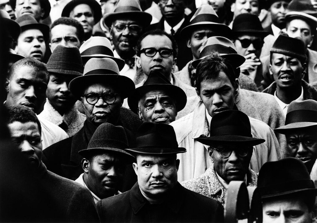Gordon Parks Black Muslim Rally.New York, 1963