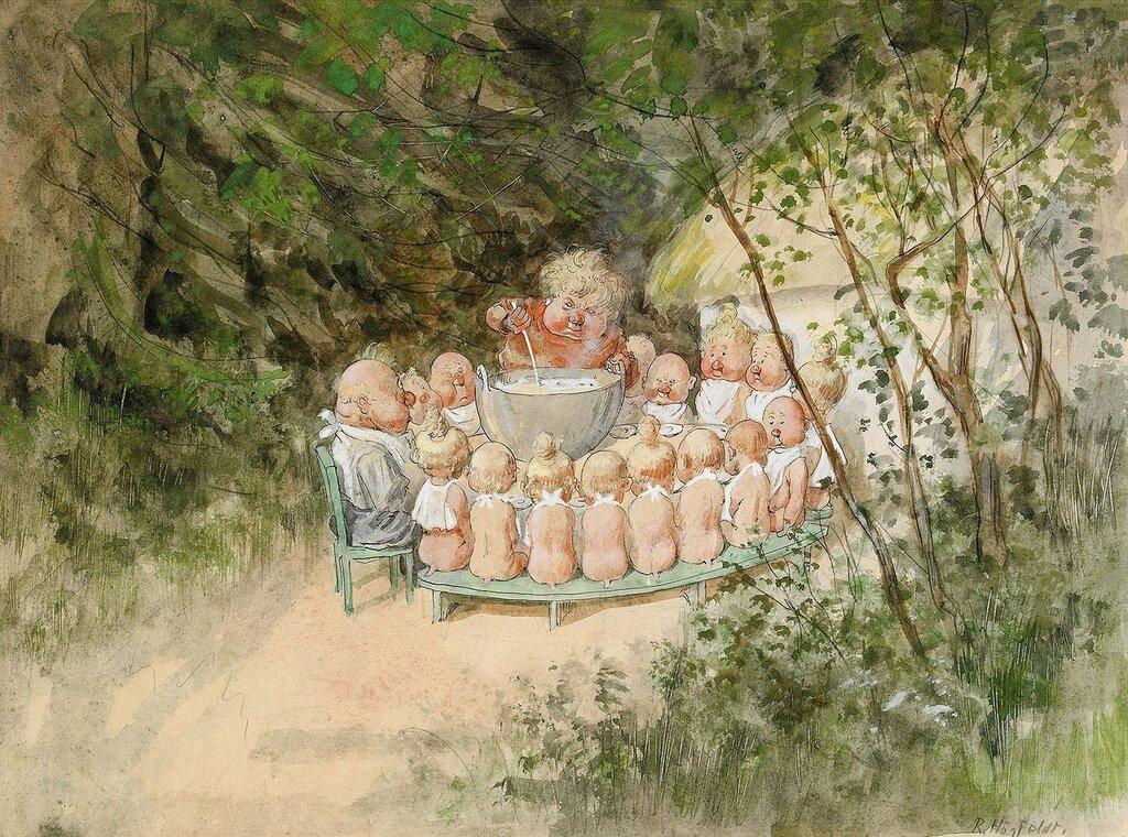 Рисунки шведского художника Роберта Хегфелдта (1894-1986)