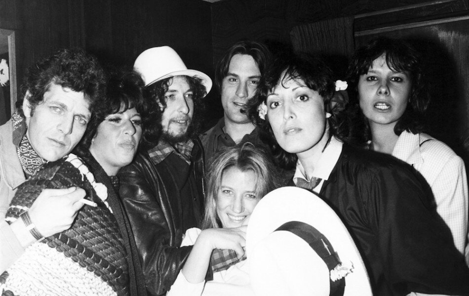 Dylan, Sally Kirkland, De Niro, Ronee Blakely, and Martine Getty