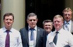 Чубайс, губернатор Гаевский, мэр Пальцев, ректор Синельников и я