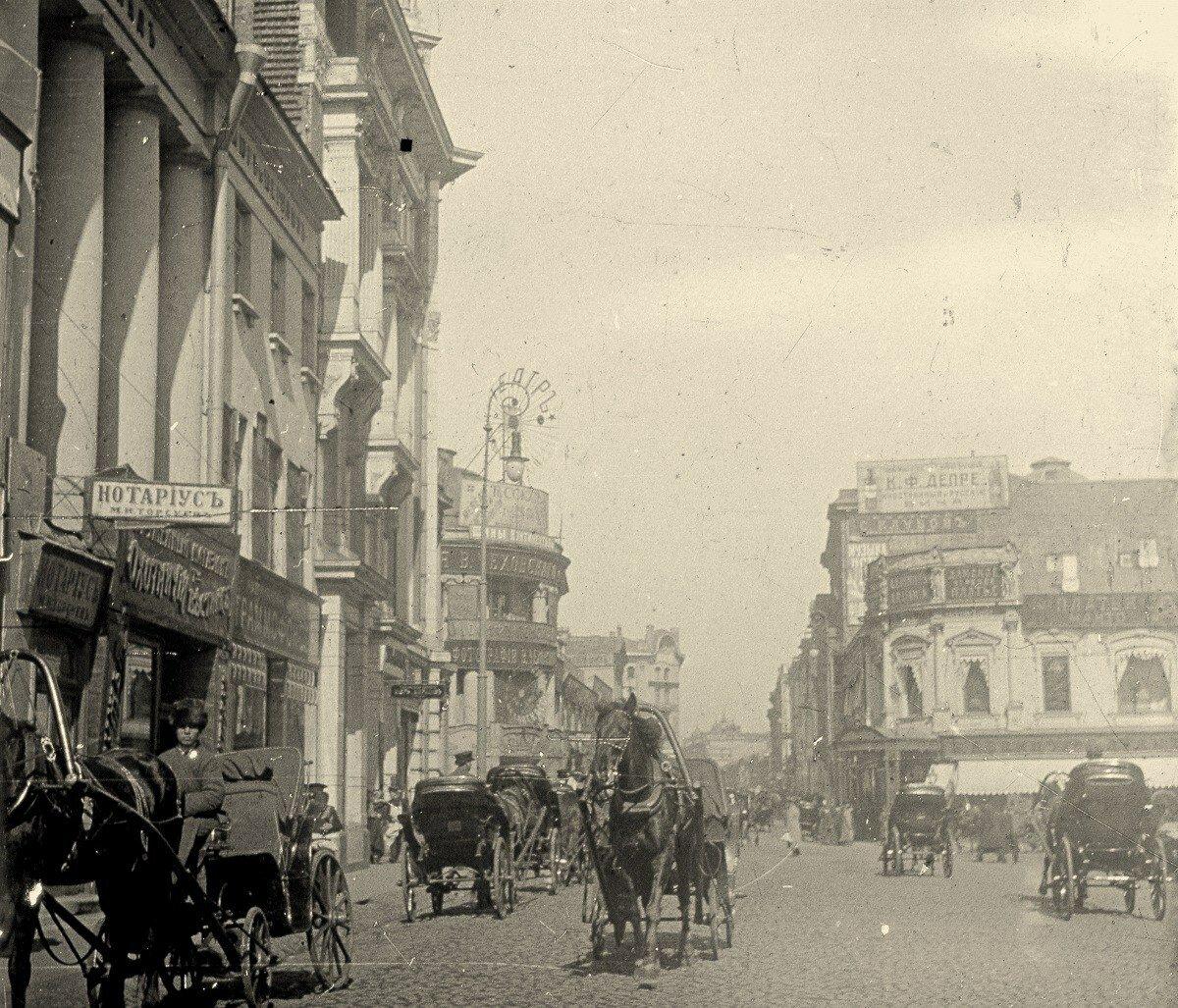 223. Пересечение улиц Петровка и Кузнецкий Мост.1910