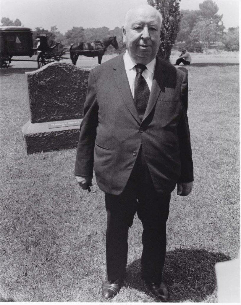 1976. Альфред Хичкок на съемочной площадке своего фильма «Семейный заговор»