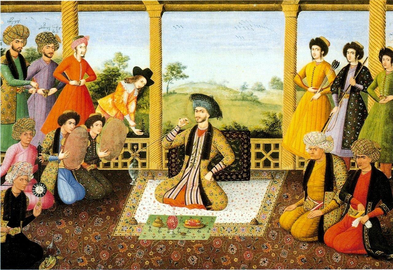 Али-Кули Джаббадар. Шах Сулейман и придворные. 1670г.jpg