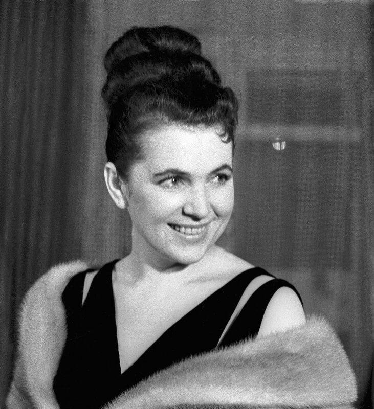 Певица Галина Вишневская, 1961 год