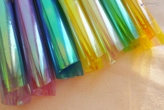 плёнка радужная прозрачная для крыльев фантазийных кукол и игрушек