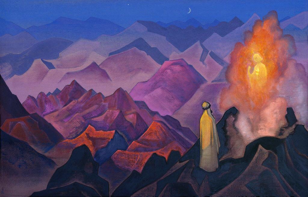 Рерих  Николай  Константинович  (1874-1947)Магомет-пророк800 x 600, 1932