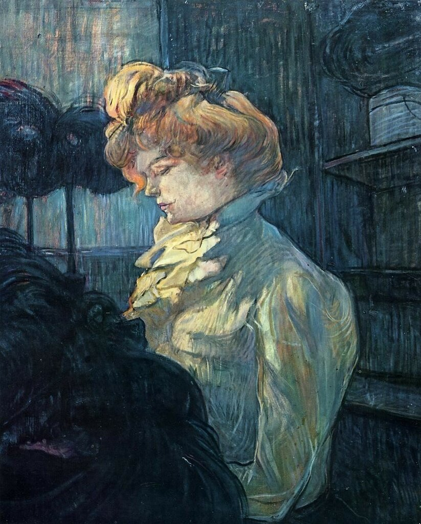 The Milliner - 1900 - Musee Toulouse-Lautrec - Albi - Painting - oil on cardboard.jpeg