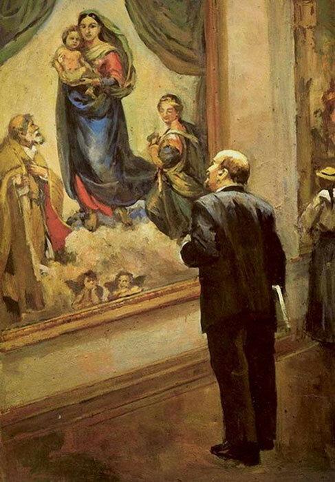 В.И. Ленин в Дрезденской галерее в 1914 году.jpg