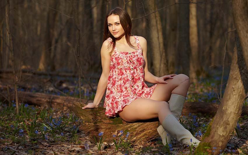 Подснежники Девушка Весна