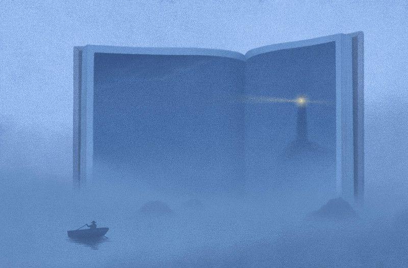 Корейские сюрреалистичные картинки с книгами в самых необычных ролях