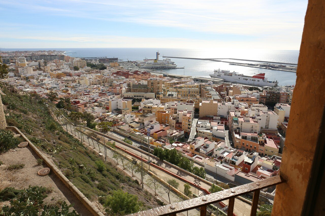 Almeria. View from Alcazaba fortress