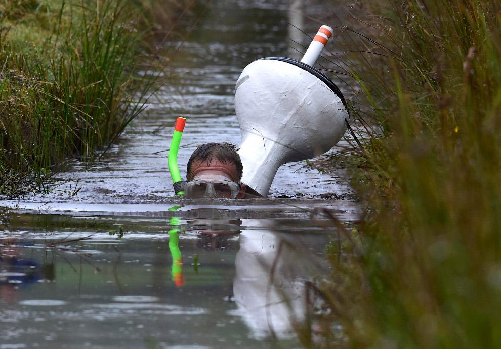 А первый чемпионат мира по болотному снорклингу прошел в городе Ллануртид Уэльс в 1985 году. А всё н