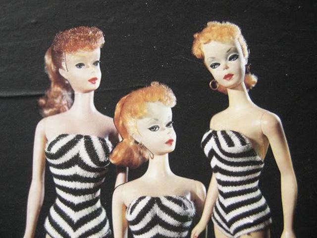 Кукла Барби в прошлом.