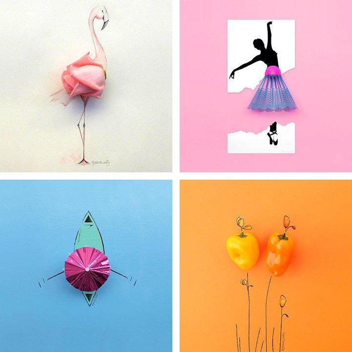 Забавные иллюстрации с повседневными предметами
