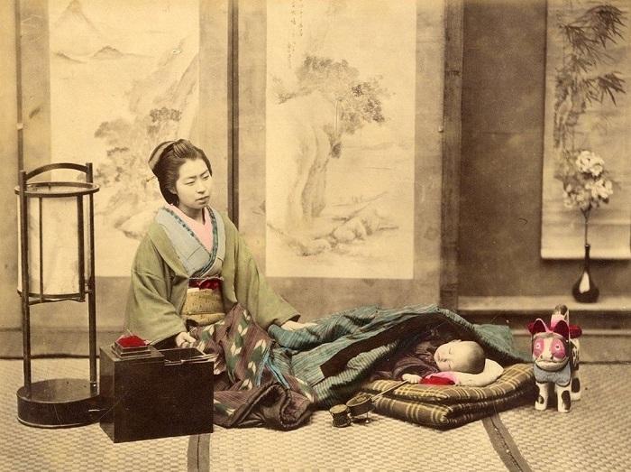 Мастер по изготовлению зонтов Методика изготовления вагасы (японского зонта) была несложной, но