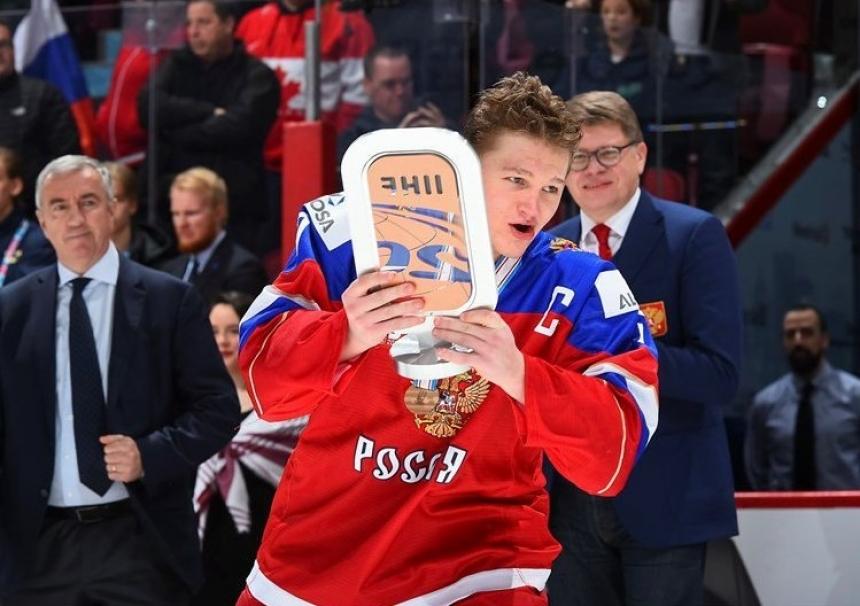Лучшим нападающим молодежногоЧМ похоккею признан Кирилл Капризов