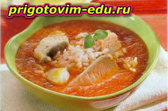 Приготовим Суп «Рыбка в томате»