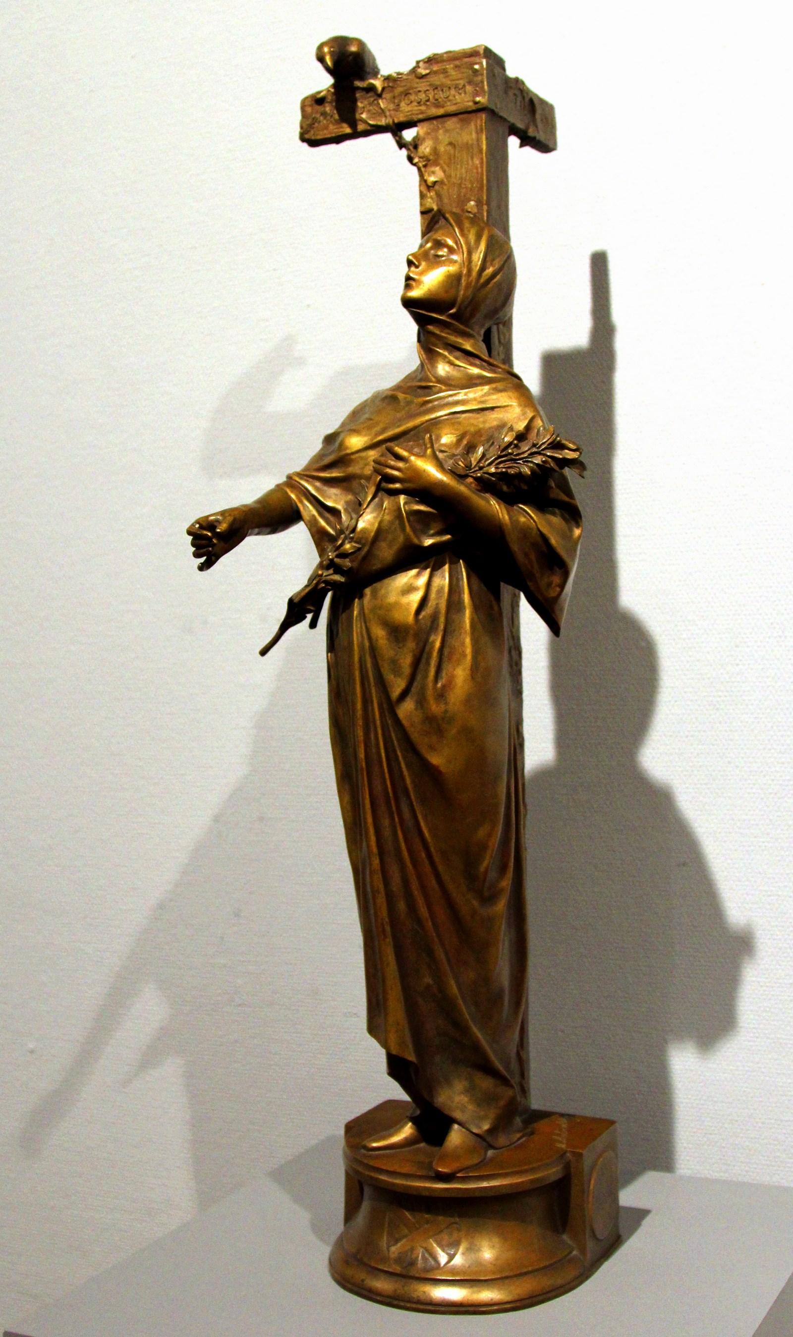 Антокольский М.М. 1843-1902 Девушка, идущая в Колизей. На перепутье Бронза. Национальный художественный музей Республики Беларусь