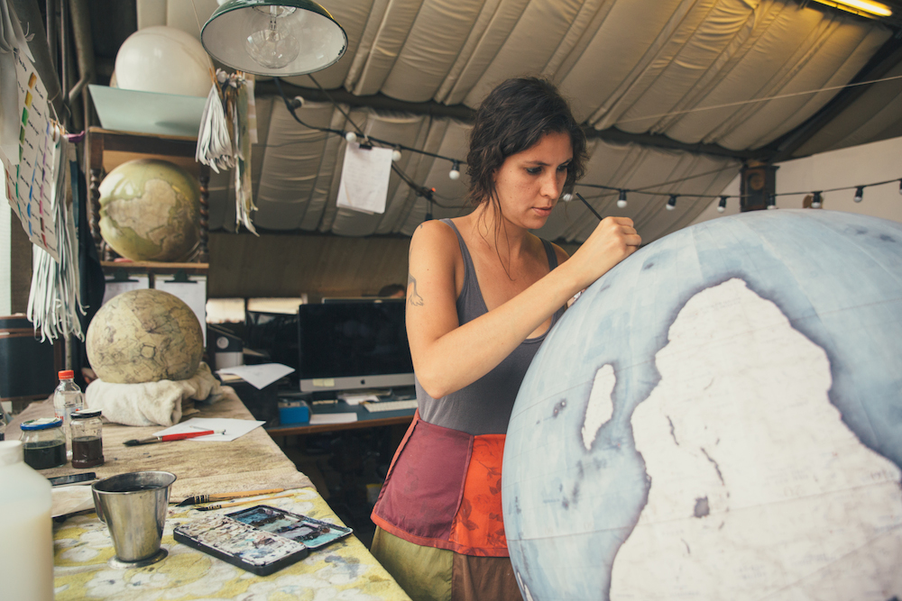 A Visit Inside One of the Only Hand-crafted Globe Studios in the World (6 pics)